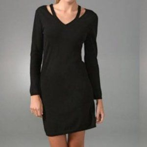Theory Dress Margolina Cutout black knit sz Large